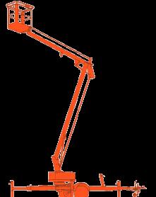 Aanhangwagen hoogwerker – 12m