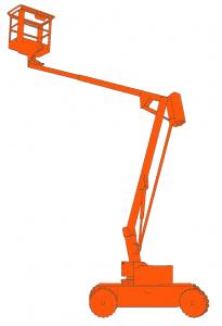 Zelfrijdende Knikarm hoogwerker – 12m